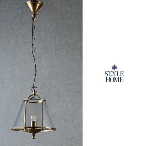 Cotton Tree Hanging Lamp in Antique Brass