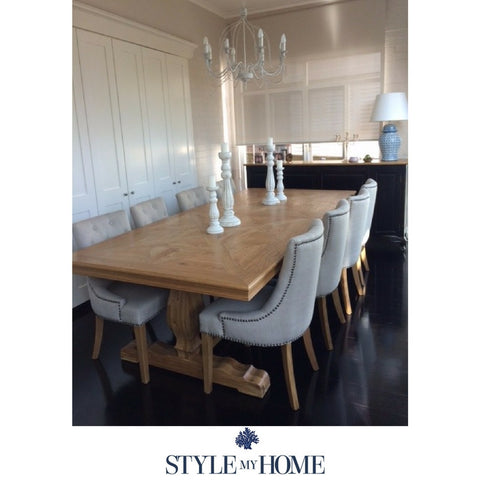 'HAMPTONS' Parquetry Oak Dining Table