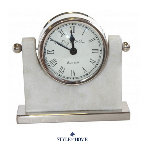 Swivel Clock on Marble Base