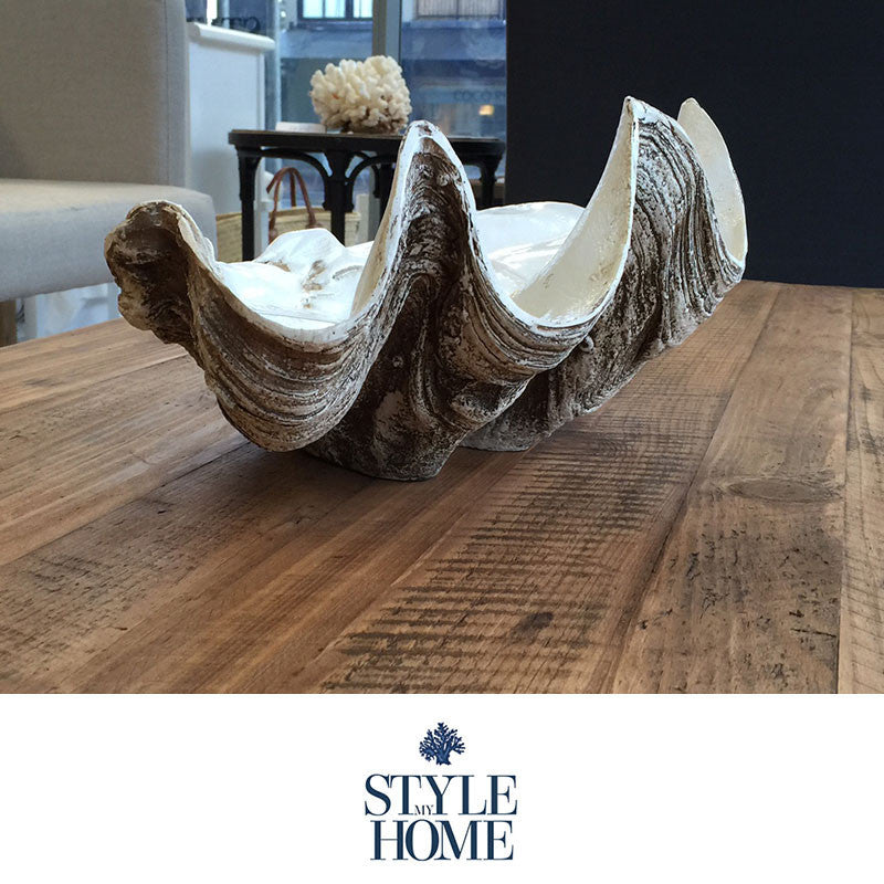 Polyresin Clam Shell Decoration from Style My Home Australia