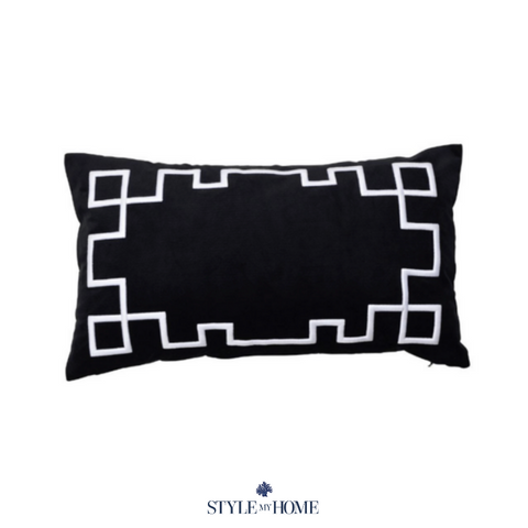 Palm Springs Black Rect. Cushion