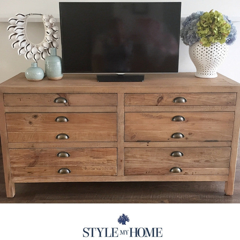 Rustic entertainment unit
