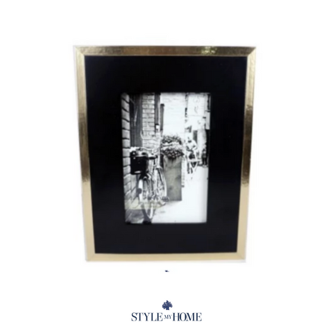 Luxe Gold & Black Photo Frame