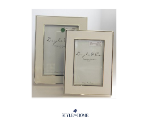 Doyle Silver & White Photo Frame