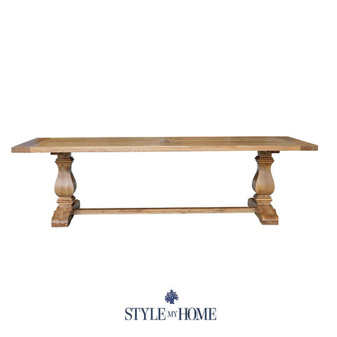 CLEVELAND Oak Dining Table Hamptons by Style My Home Australia Sydney Hamptons Country