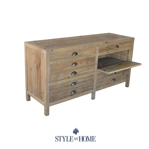 PRINTERS Recycled Wood Entertainment Unit Style My Home Sydney Australia Hamptons Industrial Country