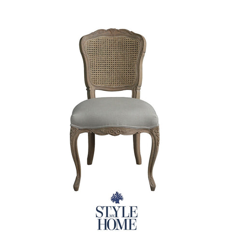 'Eloise' French Linen Back Dining Chair