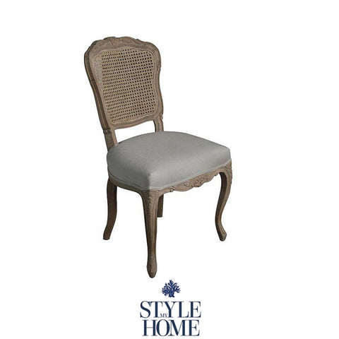 French Country Dining Chair from Style My Home Australia, Hamptons oak rattan chair