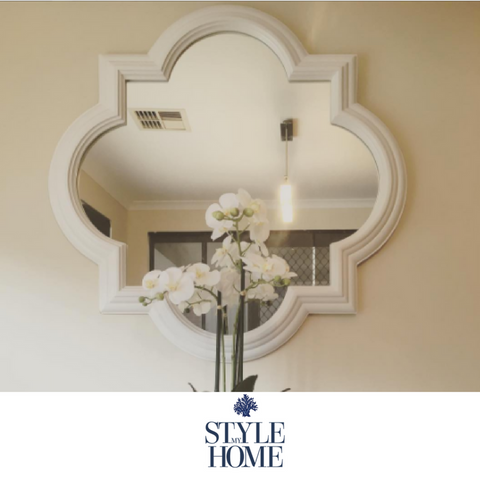 QuatreFoil Wood Mirror