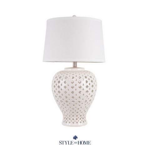 Holy White Tall Hamptons Lamp by Style My Home Australia