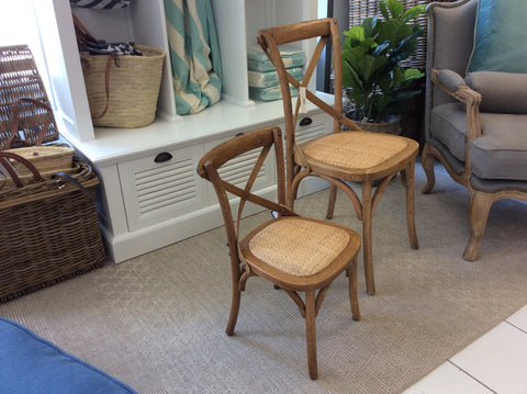 'DAVID' KIDS Cross-back Chair with Rattan Seat