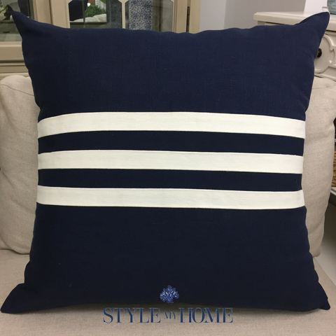 Linen Monaco Stripe Cushion