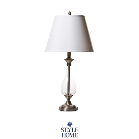 Hamptons Style Glass Table Lamp
