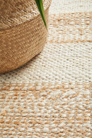 Noosa Natural White Runner Rug
