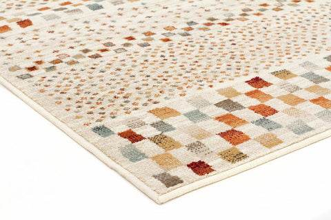 Mayfair Squares Bone Rug