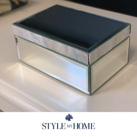 Mother of Pearl Mirrored Jewellery Box