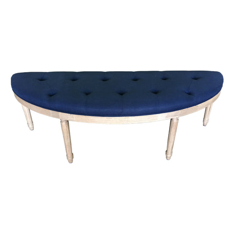 'MAREE' Semi-Circular Linen Upholstered Bench Seat