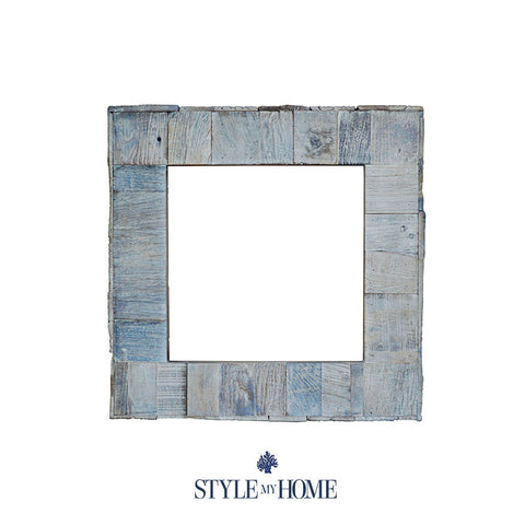 """Shipwrecked"" Salvaged Coastal Beach House Square Mirror by Style My Home Australia"