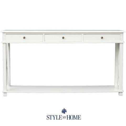 SOUTH BEACH Hamptons Cross Leg Console Style My Home Sydney Australia Coastal
