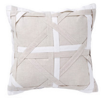 Knotted White Cushion