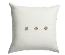 Linen Cushion with Coconut Buttons