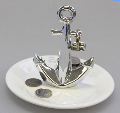 Nautical Anchor Coin Tray
