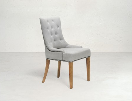 MONTY Upholstered Linen Dining Chair Style My Home Sydney Australia French Country Coastal Hamptons