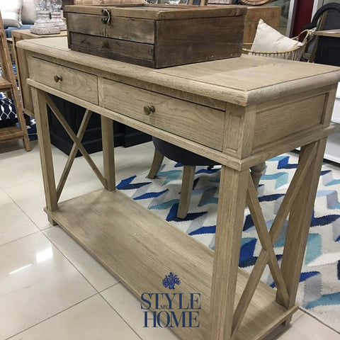 Hamptons Cross Leg Small Console by Style My Home Sydney Australia