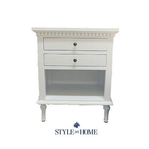 'REGENCY' Hamptons 2 Drawer Bedside