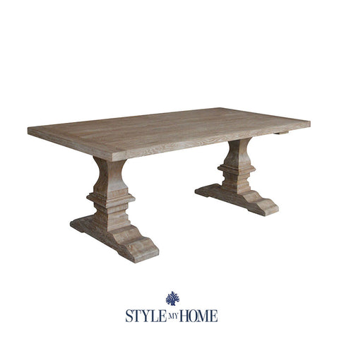 RICHMOND Extendable Rectangular weathered oak Dining Table Style My Home Sydney Australia Hamptons Coastal Country French