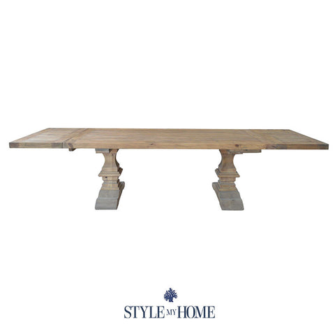 RICHMOND Extendable Rectangular Dining Table (2m-3m) Style My Home Sydney Australia Hamptons Coastal Country French