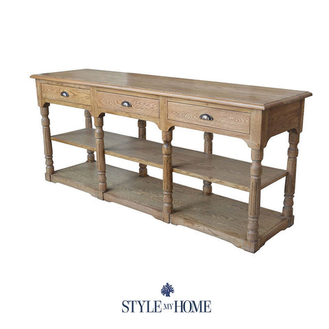 ELISABETH Solid Oak Wood Console by Style My Home Australia