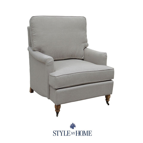 MADELINE Linen Arm Chair Sydney Australia Hamptons Country Coastal Contemporary