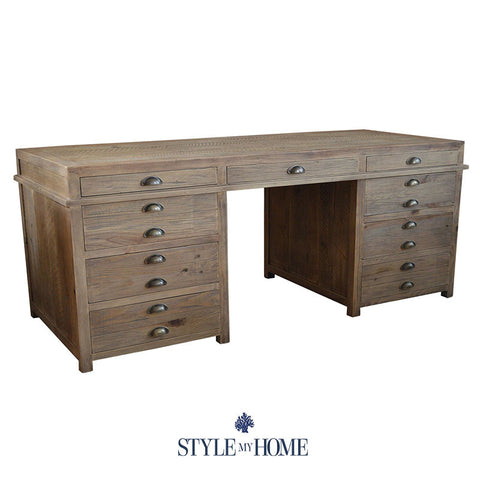 'PRINTERS' Large Desk by Style My Home Australia