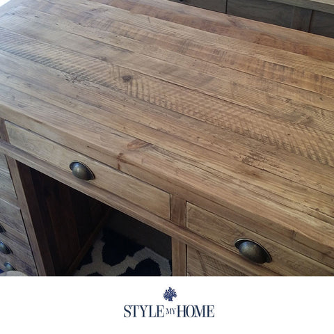 PRINTERS Recycled Wood Coastal Hamptons Study Desk from Style My Home Australia Sydney