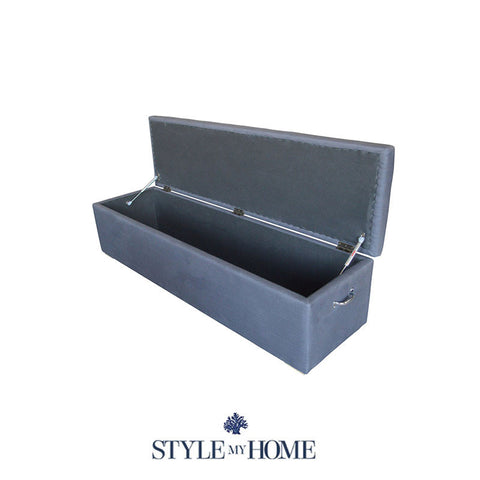 PLAIN ABIGAIL Upholstered Storage Box Coastal Upholstered Linen Bed Bench Blanket Box by Style My Home Australia Sydney