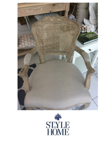 ELOISE Deluxe French Rattan Dining Chair with Arms Style My Home Sydney Australia Hamptons Country