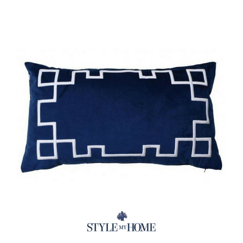 Palm Springs Navy Rect. Cushion