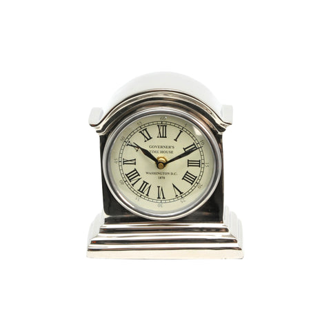 Simmons Aluminum Nickle Finish Table Clock