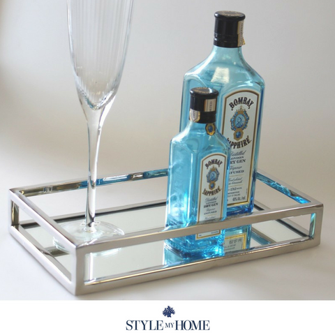 'Vanity' Small Rectangle Mirror Tray