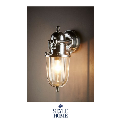 Chapel Wall Lamp Outdoor Silver