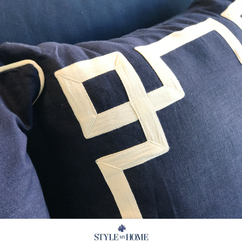 Cross Cushion - Navy 50x50cm