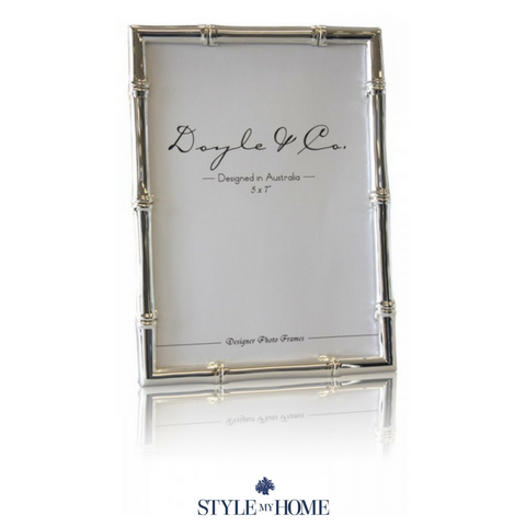Silver Plated Bamboo Frames - 2 Sizes