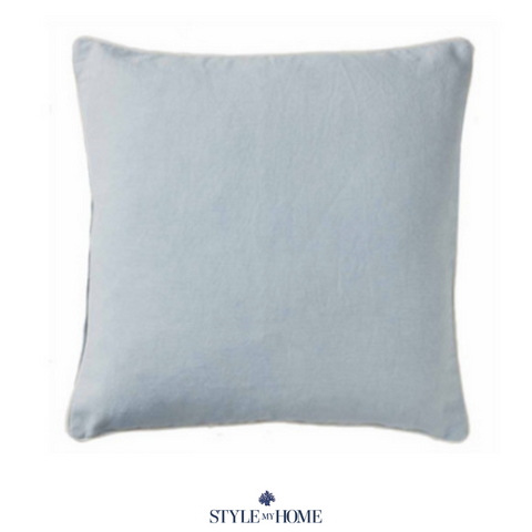Basic Cotton Cushion in Sky Blue