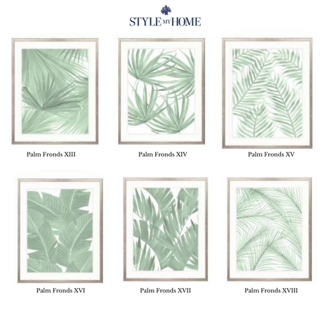 Montego Foliage (Soft Green) Framed Artwork Collection