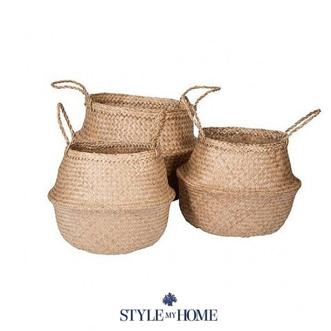 Collapsible Seagrass Basket Natural Style My Home Sydney Decor