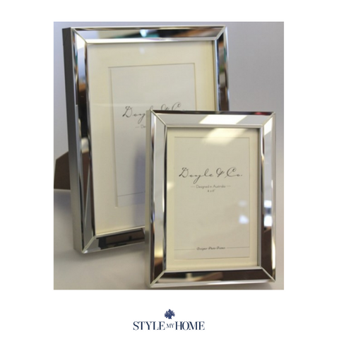 Mirror with Silver Edge Photo Frame