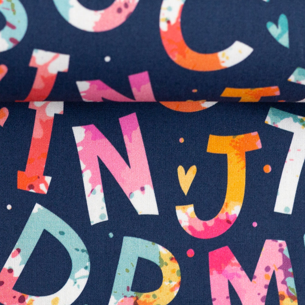 Load image into Gallery viewer, Cotton Poplin Letters