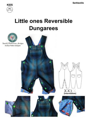 Load image into Gallery viewer, Pattern Dungarees 0-2yrs