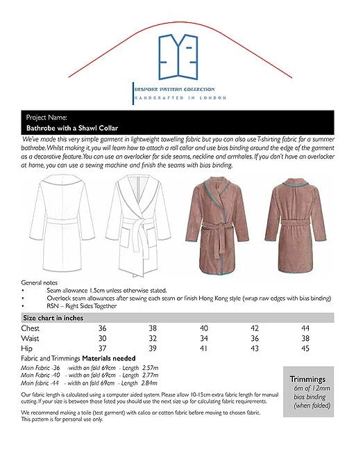 Load image into Gallery viewer, Pattern Bathrobe